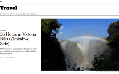New York Times: 36 Hours in Victoria Falls