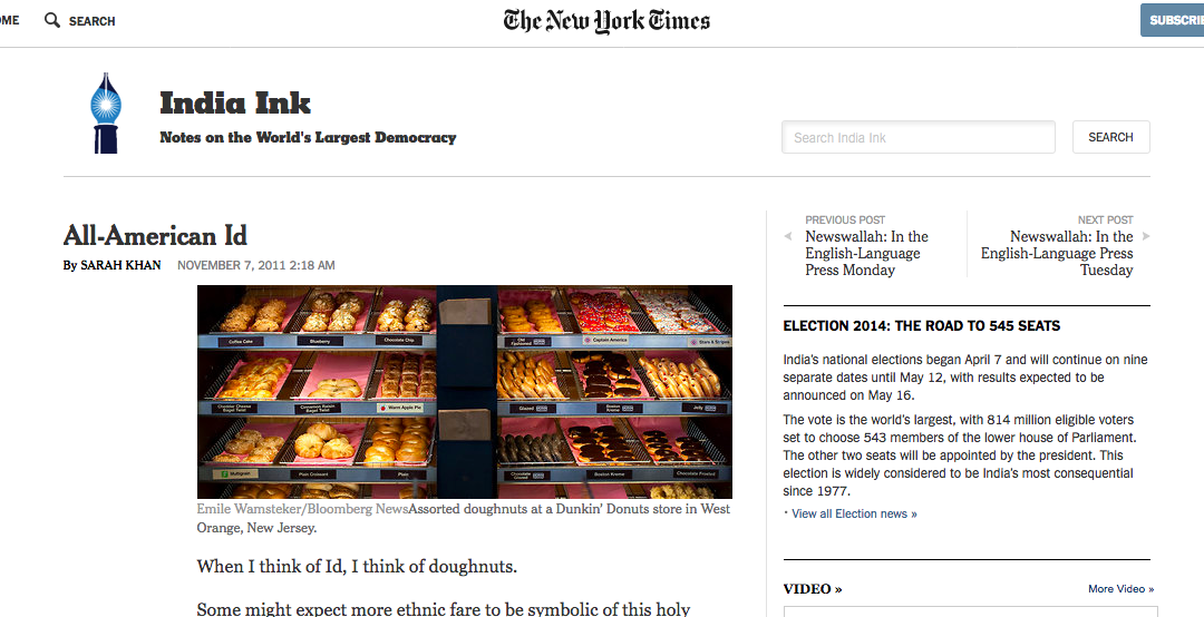 New York Times: All-American Eid