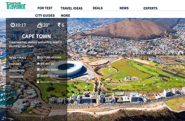 Condé Nast Traveller India: Cape Town City Guide