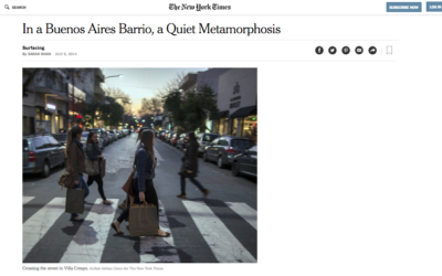 New York Times: In a Buenos Aires Neighborhood, a Quiet Metamorphosis