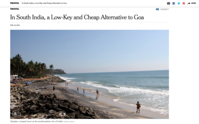 New York Times: In South India, a Low-Key and Cheap Alternative to Goa
