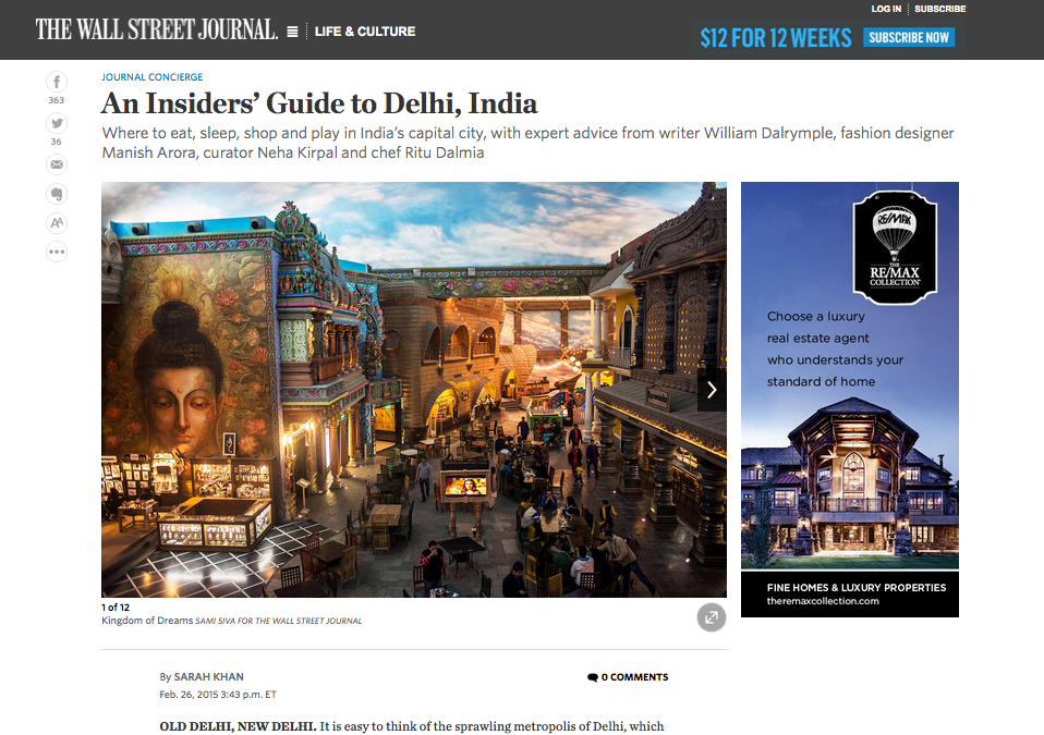 WSJ Insider's Guide to Delhi