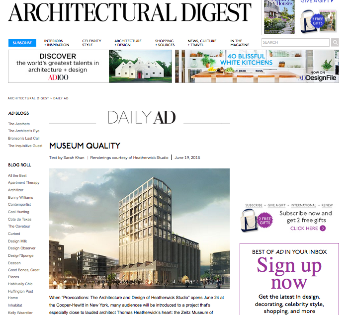 Architectural Digest: Museum Quality