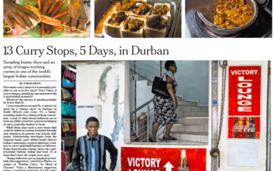New York Times: 13 Curry Stops, 5 Days, in Durban