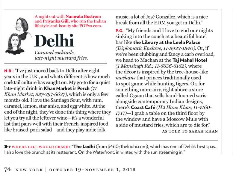 New York Magazine: Vacation After Dark – Delhi