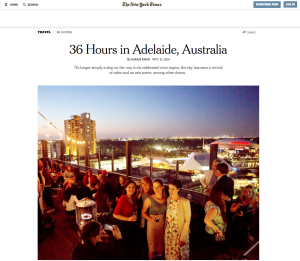 NYT 36 Hours Adelaide