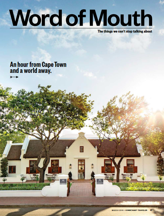 Condé Nast Traveler: Get Out of (Cape) Town