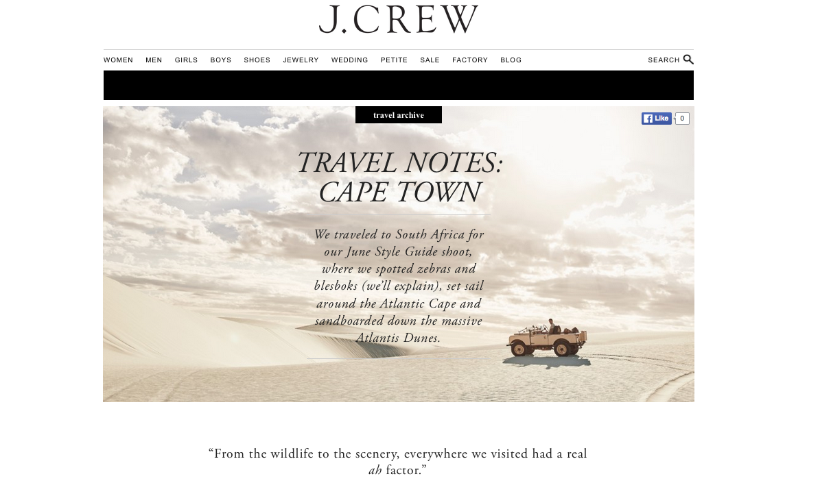J.Crew: Travel Notes – Cape Town