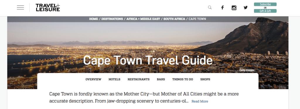 T+L Cape Town