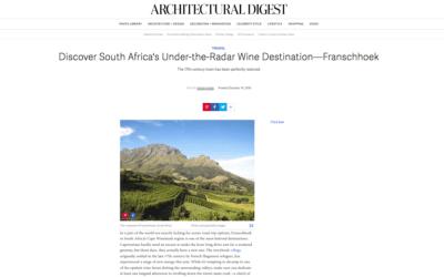 Architectural Digest: Under-the-Radar Wine Destination – Franschhoek