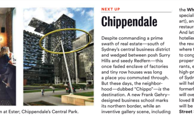 Condé Nast Traveler: Sydney's Chippendale District