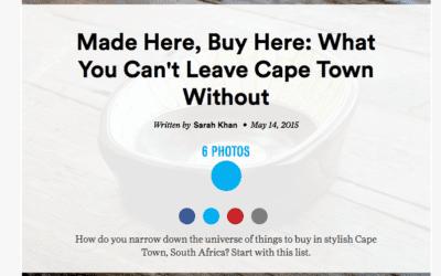 Condé Nast Traveler: Cape Town Souvenirs