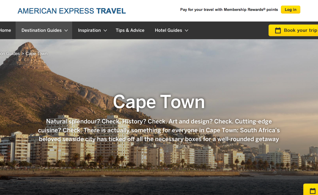American Express: Cape Town Destination Guide