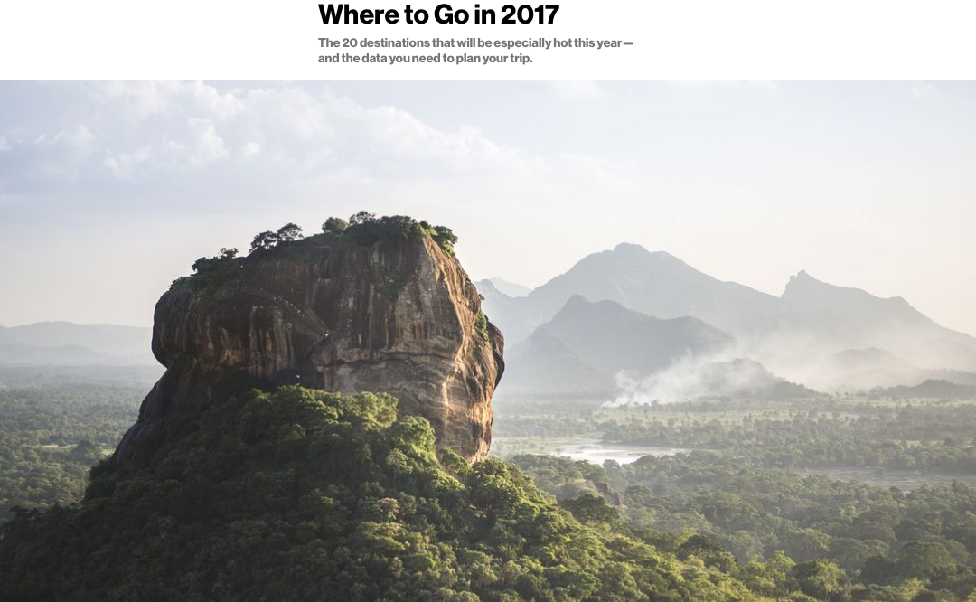 Bloomberg Pursuits: Where to Go in 2017