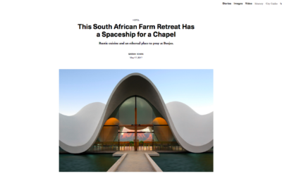 Surface: This South African Farm Retreat Has a Spaceship for a Chapel