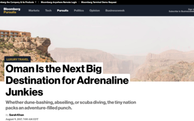 Bloomberg Pursuits: Oman Is the Next Big Destination for Adrenaline Junkies