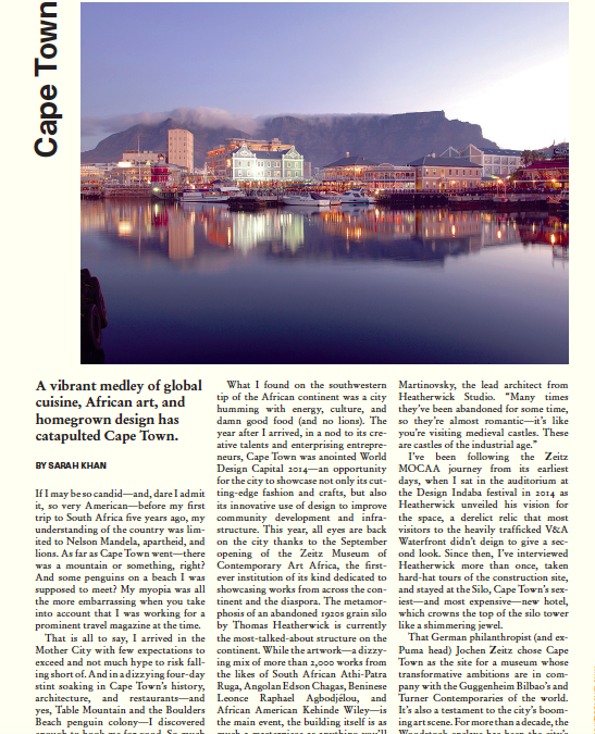 Surface: Destination – Cape Town