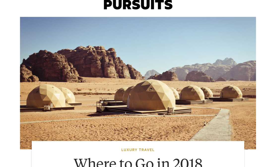 Bloomberg Pursuits: Where to Go in 2018