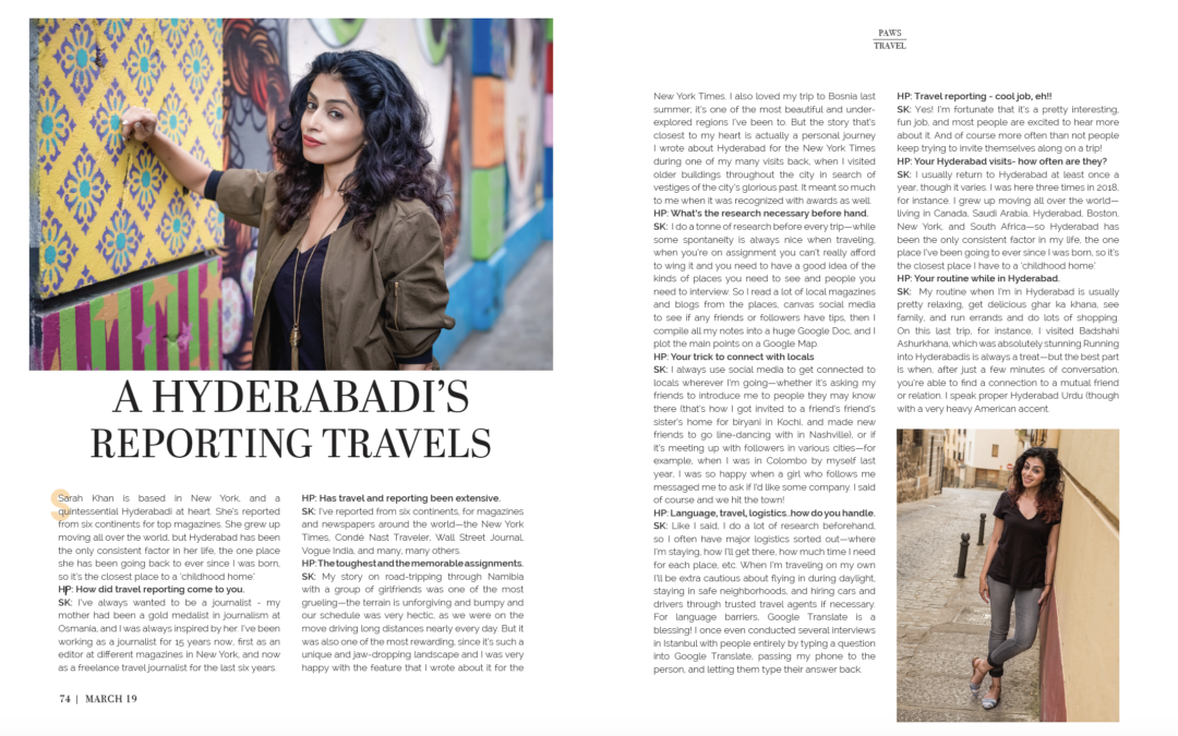 Hyderabad Paws: A Hyderabadi's Reporting Travels