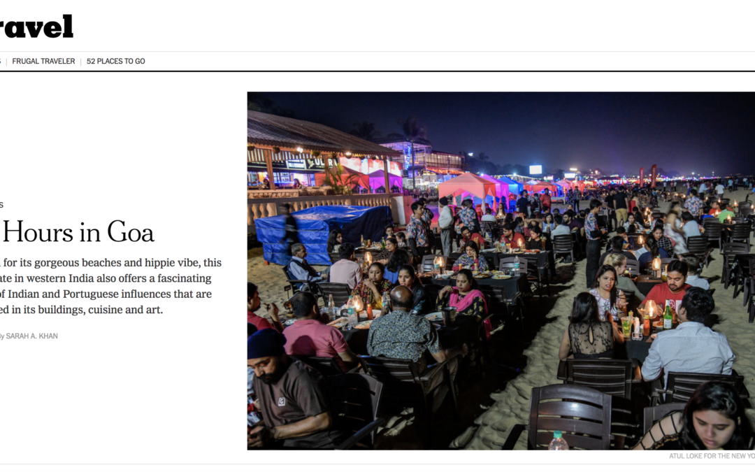 New York Times: 36 Hours in Goa