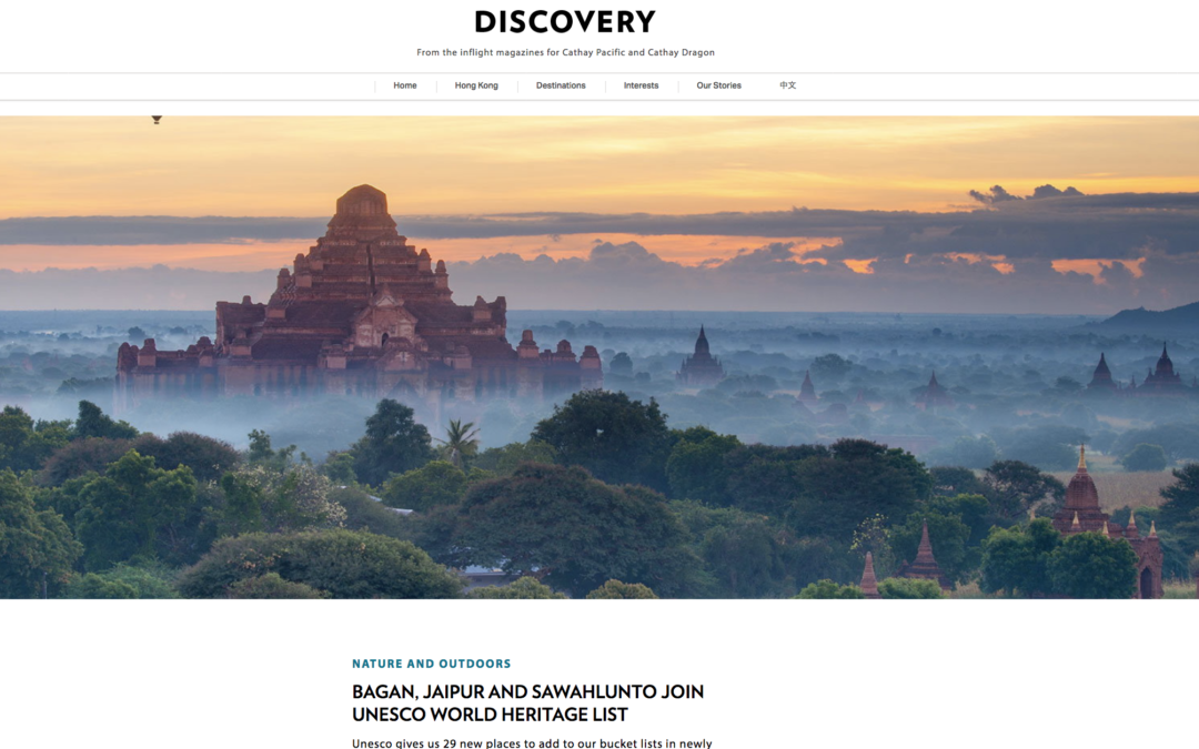 Cathay Pacific: Bagan, Jaipur and Sawahlunto Join UNESCO World Heritage List