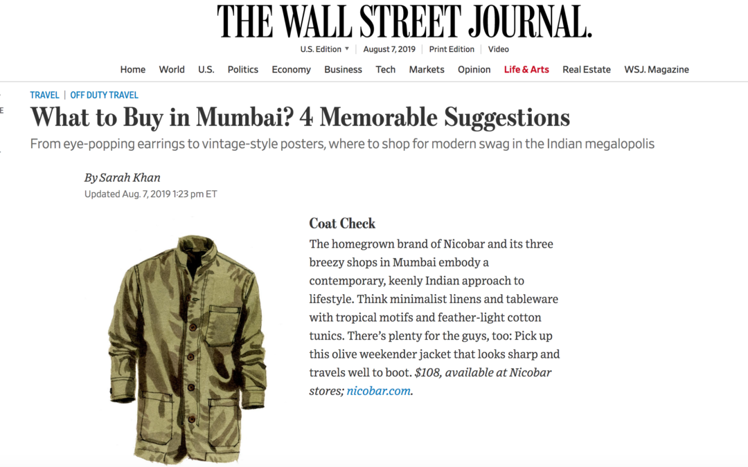 Wall Street Journal: Mumbai Mementos