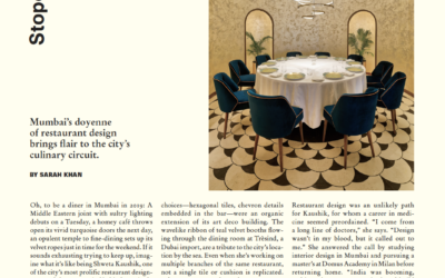 Surface: Mumbai's Doyenne of Restaurant Design