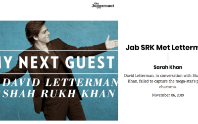 The Juggernaut: When SRK Met Letterman