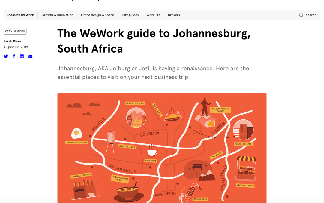 WeWork: The WeWork Guide to Johannesburg, South Africa