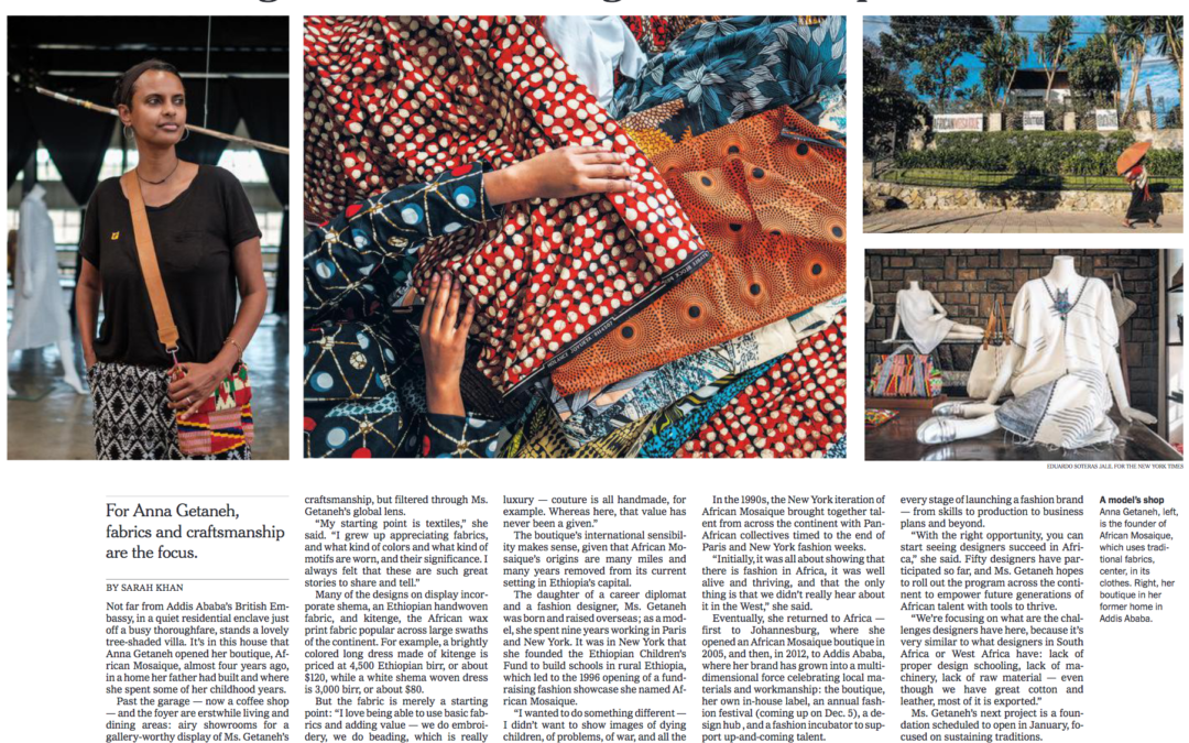 New York Times: An Ethiopian Boutique Showcasing Artisanal Design