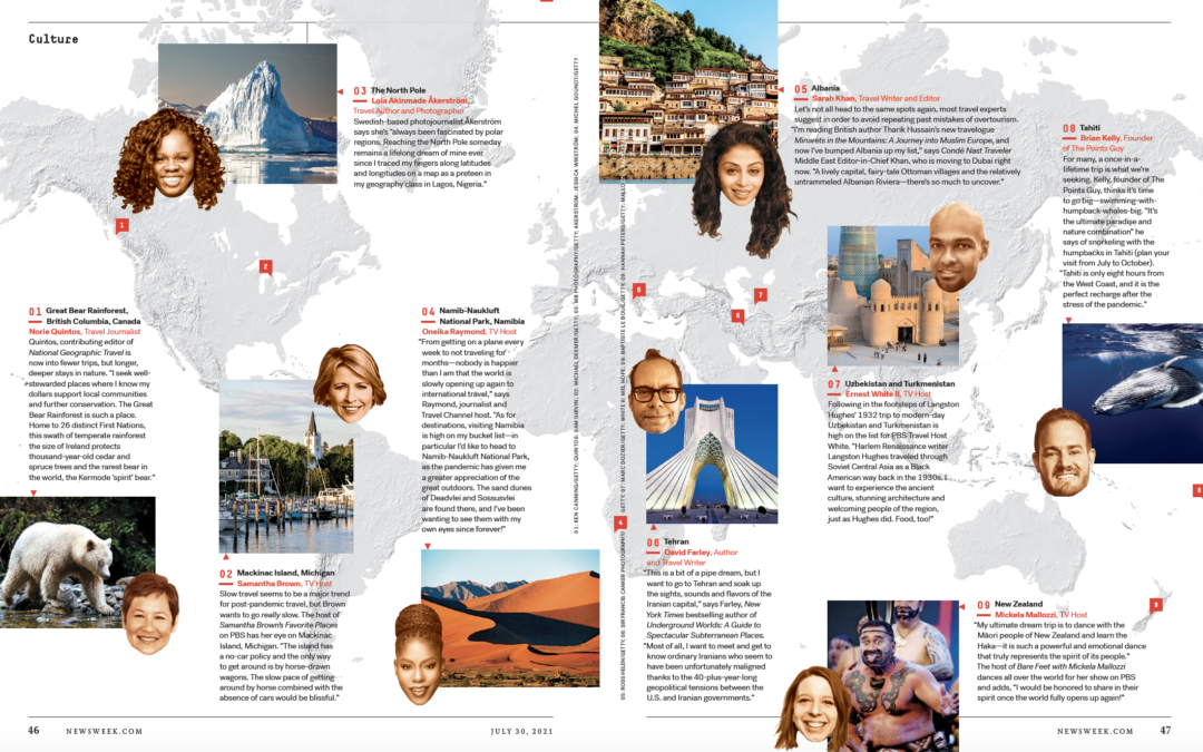 Newsweek: Where Our Favorite Travel Experts Are Dreaming of Traveling Now