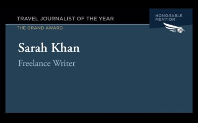 Society of American Travel Writers: Travel Journalist of the Year honorable mention
